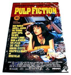 Pulp Fiction Cast Signe 12x18 Film Affiche Withcoa X4 Travolta Tarantino Roth Uma