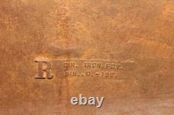 Rare Large Original Antique 1903 Cincinnati Stove Works 39 Signe En Fonte