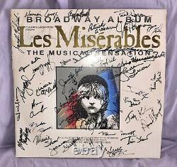Rare Les Miserables Original Broadway Cast Signed Lp/album
