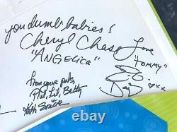 Rare Vtg'98 Razmoket Cast Complet Signé Nickelodeon Dossier 9x Autographs