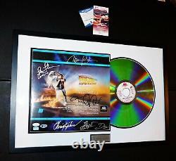 Retour À L'avenir Du Cast Framed Signé Michael J Fox Lloyd +2 Laserdisc Beckett