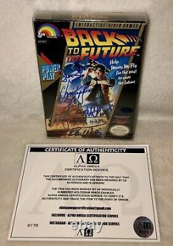 Retour À La Future Distribution 5x Signé Nintendo Nes Jeu Michael J Fox + 4 Plus Coa