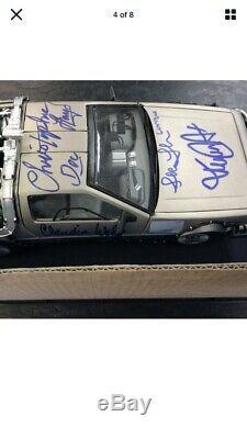 Retour Au Cast Future Signe Delorean X5 Fox Lloyd Diamond Select Autograph