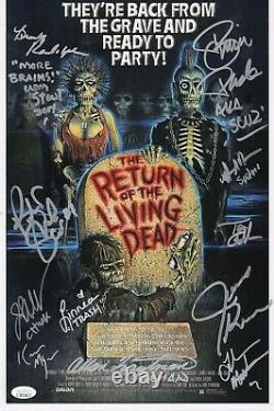 Retour De La Mort De Vie (x12) Photo Authentique Signée À La Main 11x17 (jsa Coa)