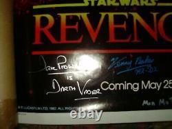 Revenge Of The Jedi Affiche Signée Par 7 Tous En Personne