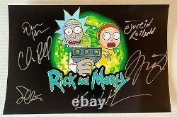 Rick Et Morty Casting Dédicacé 8x12 Photo Signée Chris Parnell Harmon Roiland