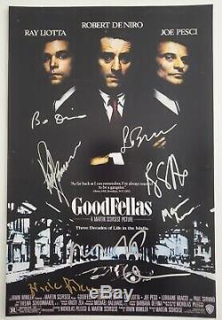Robert De Niro Ray Liotta + Avec Signé Goodfellas 12x18 Poster 7 Autographes Rad