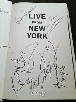 Samedi Night Live Cast Signed Book Live De New York Snl 9 Autographs 1st Ed