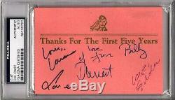 Saturday Night Live Cast (6) Avec Bill Murray Signé Autographié Cut Psa / Adn Et Jsa
