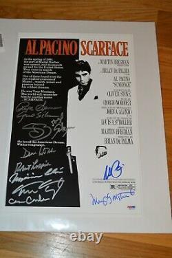 Scarface Al Pacino & Cast Indicumé 11x17 Photo Psa Loa
