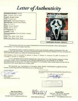 Scream Cast Signé Autographied Magazine Cox Arquette Grimes Brody Jsa Bb40976