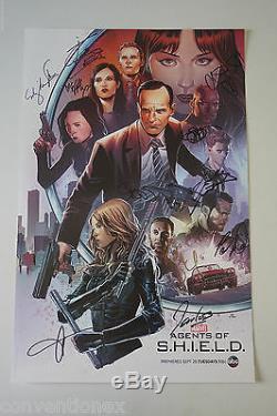 Sdcc Comic Con 2015 Agents De S. H. I. E. L. D. Cast Affiche Signée Clark Gregg +9
