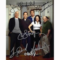 Seinfeld Cast Par 5 (73659) Autographié En Personne 8x10 Avec Coa