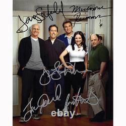 Seinfeld Cast Par 5 (73660) Autographié En Personne 8x10 Avec Coa