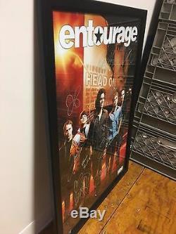 Série Entourage Affiche Signée Par 12 Membres Du Coa Steiner Cast