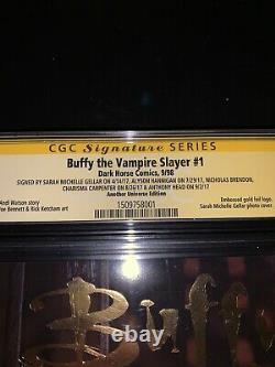Signé Buffy The Vampire Slayer 1 Cgc 9.6 Sarah Michelle Gellar & Original Cast