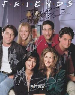 Signé Cast Of Friends 6 Autographed Coa Aniston Kudrow Perry Leblanc Schwimmer