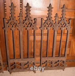 Signé French Antique Cast Iron Gothic Fence Muel Et Wahl Fondry De Tusey