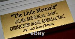 Signé Little Mermaid Cast Autograph, Coa, Uacc Frame, Blu Dvd, Jodi Benson
