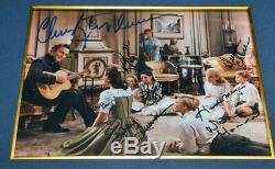Signé Son De La Musique Julie Andrews + Autographs Entiers Cast, Coa Uacc Cadre DVD