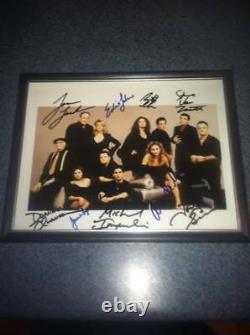 Sopranos Deluxe 9 Signature Cast Autographié Photo 8x10 James Gandolfini +