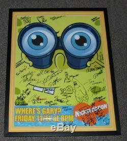 Spongebob Squarepants Cast Signé Encadré 21x27 Affiche Présentée Avec 6 Sketches Jsa