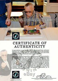 Stan Lee Autographié Marvel Super Heroes Cast 16x20 Preuve Photo Asi