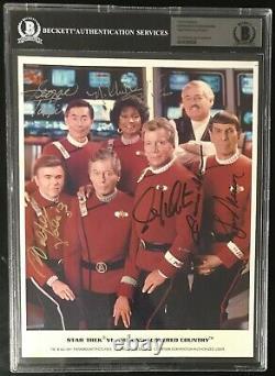 Star Trek Cast William Shatner Leonard Nimoy Beckett Bas Auto Signed 6x Photo