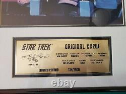 Star Trek Original Cast Autographed Photo Et Plaque En Édition Limitée Avec Coa
