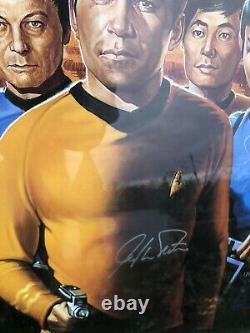 Star Trek Original Crew Whole Cast Signed Lithgraph Limited Ed. 174/500 Coa