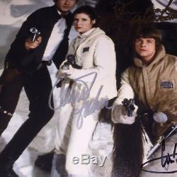 Star Wars Cast Dédicacé Signé 11x14 Ford Hamill Fisher Mayhew Opx Bas Loa