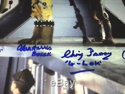 Star Wars Cast Rare Affiche Signée Bounty Hunters Dave Prowse Darth Vader Jsa Coa