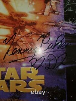 Star Wars Cast Signed Picture Rare 20,5x 16