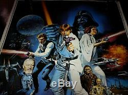 Star Wars Cast Signés Autograph Poster Mark Hamill Carrie Fisher Anh Vintage