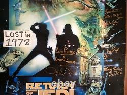 Star Wars Cast Signés Autograph Poster Retour Jedi Prowse Daniels Mandalorien ++