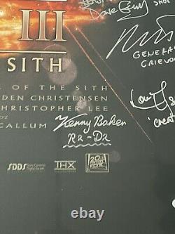Star Wars Revenge De La Distribution Sith Signé 27x40 Original Ds Affiche Bas Loa