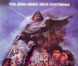 Star Wars Signé Affiche Du Film Esb Casting Ford Harrison Carrie Marque Pêcheur Hamill