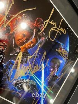 Star Wars The Force Réveilns Cast Signé Autographié 8x12 Ford, Fisher, Ridley