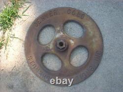 Stonehouse Cast Iron Base Signe Embossed Original Lollipop Sign, Denver Colo Rare
