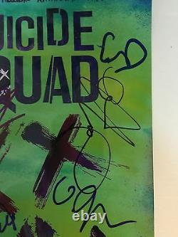 Suicide Squad 11 Signatures Cast Autograph Signé 12 X 8 Jsa Lettre Complète