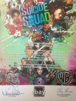 Suicide Squad Cast Signed Movie Poster-margot Robbie-signed Par 12