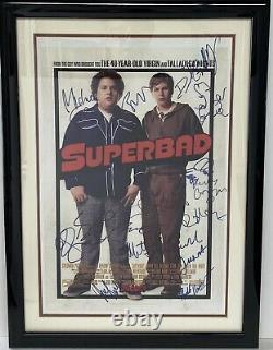 Superbad Judd Apatow Full Cast Signé Autographed Framed Mini Poster Read
