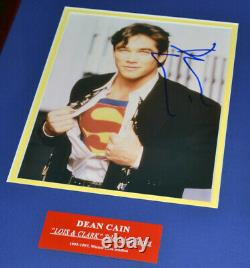 Superman Signé Autographes Christoper Reeve, Cavill, Welling, Caïn, Routh + Cape