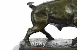 Taureau De Charge Statue De Bronze Sculpture De Cire Perdue Casting Base En Marbre Moigniez 11