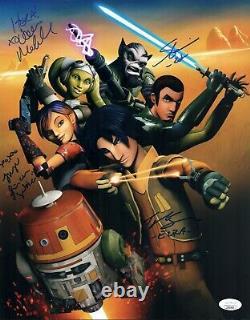 Taylor Gray Star Wars Rebels Cast X4 Signé 11x14 Photo Autographe Jsa Coa Cert