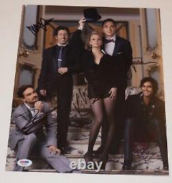 The Big Bang Theory Cast Signé 11x14 Photo X5 Jim Parsons Kaley Cuoco Psa Coa