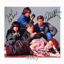 The Breakfast Club Cast By 5 (75223) Autographié En Personne 8x10 Avec Coa