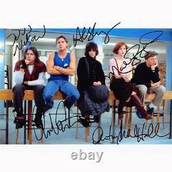The Breakfast Club Cast By 5 (78587) Autographié En Personne 8x10 Avec Coa
