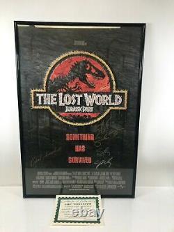 The Lost World Jurassic Park Movie Poster Autographié Par Cast Avec Coa Encadré