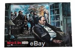 The Sopranos Cast Complète Originale Signée Hbo 2006 27x 40 Poster 12 Sig Jsa Coa